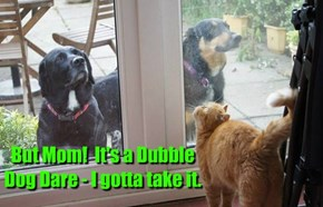 But Mom!  It's a Dubble Dog Dare - I gotta take it.