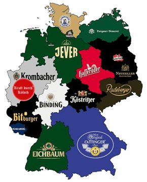 Beer Map of Germany (corrected version)