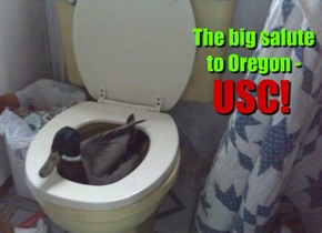 The big salute to Oregon -