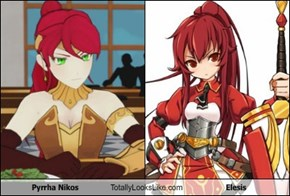 Pyrrha Nikos Totally Looks Like Elesis