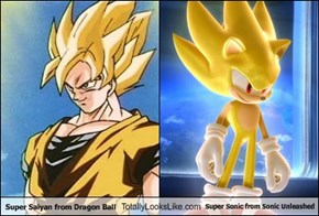 Super Saiyan from Dragon Ball Totally Looks Like Super Sonic from Sonic Unleashed