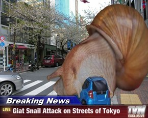 Breaking News - Giat Snail Attack on Streets of Tokyo