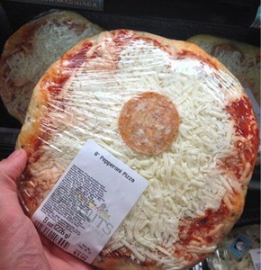 A Pepperoni Pizza, Just Like the Label Says