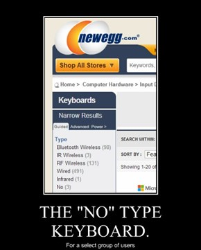"THE ""NO"" TYPE KEYBOARD."