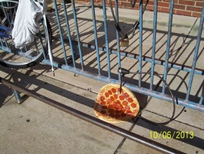 Sorry About Your Bike, Here's a Pizza
