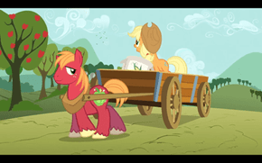 Was Big Macintosh's Cutie mark always surrounded by little white stars?