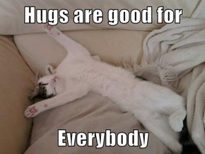 Hugs are good for   Everybody