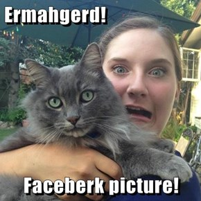 Ermahgerd!  Faceberk picture!