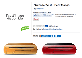 Toys R Us France Lists New Mango and Cherry Wii U Colors