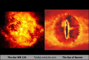 The star WR 124 Totally Looks Like The Eye of Sauron