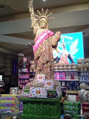Check Out This Statue of Liberty Made Out of Jelly Beans