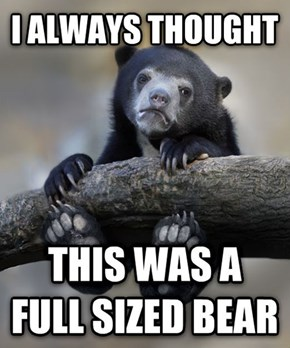 Dangling Confession Bear