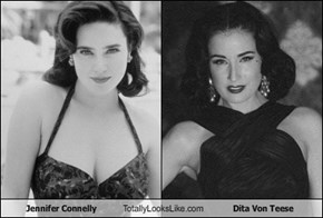 Jennifer Connelly Totally Looks Like Dita Von Teese