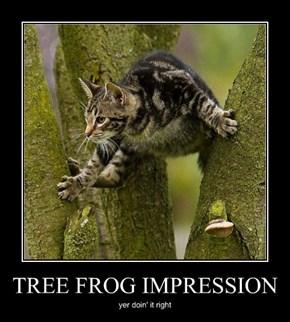 TREE FROG IMPRESSION