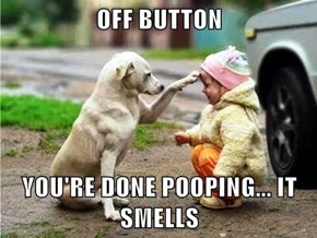OFF BUTTON  YOU'RE DONE POOPING... IT SMELLS