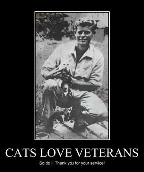 CATS LOVE VETERANS