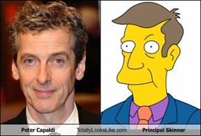 Peter Capaldi Totally Looks Like Principal Skinner