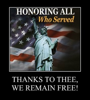 THANKS TO THEE, WE REMAIN FREE!
