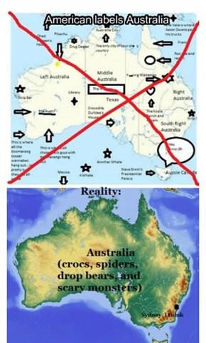 American labels Australia