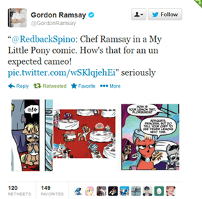 Gordon Ramsay Discovers His Pony Fame
