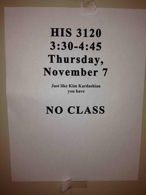 That's the Best Kind of Class