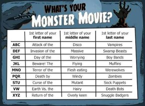 Name Your Monster Movie