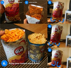 Turning Any Bag of Chips into a Bowl