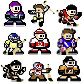 NHL Teams as Mega Man Sprites