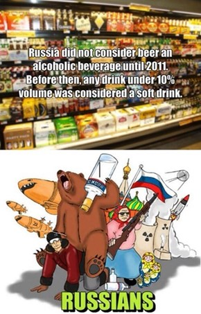 Russians Consider Alcohol Poisoning a Weakness