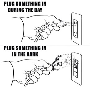 A Guide to Plugging Things In in the Dark