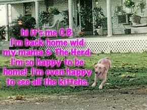 Yeaaaaa, C.B.'s home!!