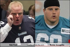 Rob Ford Totally Looks Like Richie Incognito