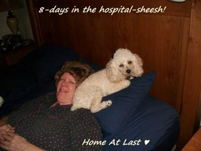8-days in the hospital-sheesh!                          Home At Last ♥