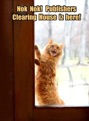 Nok  Nok!   Publishers  Clearing  House  iz  here!