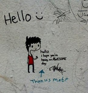 The Nicest Little Wall Graffiti