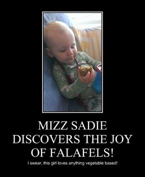 MIZZ SADIE DISCOVERS THE JOY OF FALAFELS!