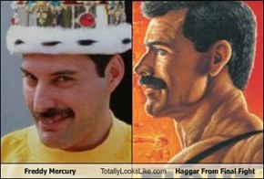 Freddy Mercury Totally Looks Like Haggar From Final Fight