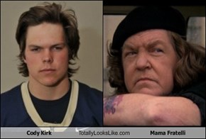 Cody Kirk Totally Looks Like Mama Fratelli