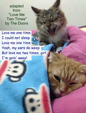 """Let Me Sleep!"" (TTO ""Love Me Two Times"" by The Doors)"