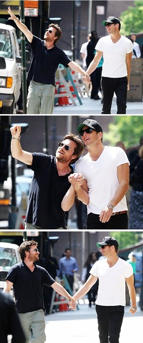 Jason Bateman and Will Arnett's Paparazzi Stroll