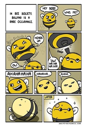 It Is Rare For a Bee to Be A Bully