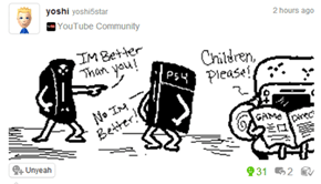 The Best Console Wars Related Miiverse Post