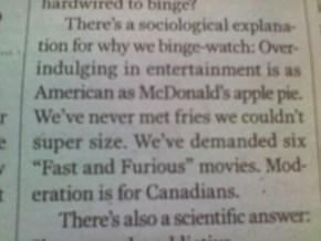 Canadians must not have Netflix then