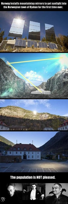 Norway Installs Sunlight Mirrors For Town