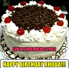HAPPY BIRTHDAY RHODA!!!