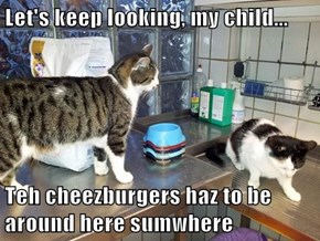Let's keep looking, my child...  Teh cheezburgers haz to be around here sumwhere
