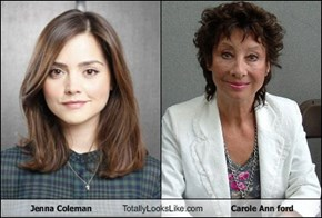 Jenna Coleman  Totally Looks Like Carole Ann ford
