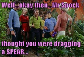 Well...okay then...Mr.Spock   thought you were dragging a SPEAR...