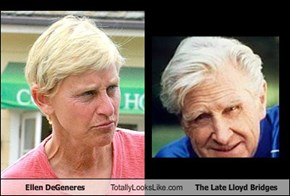 Ellen DeGeneres Totally Looks Like The Late Lloyd Bridges