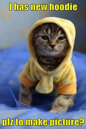 I has new hoodie  plz to make picture?